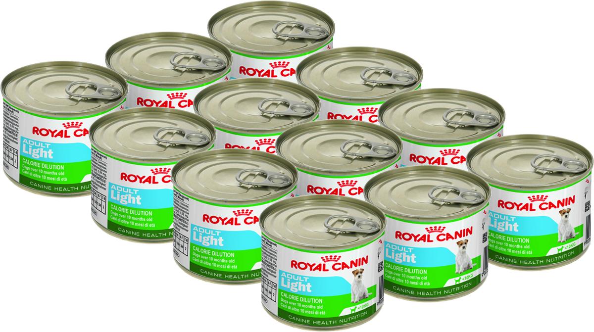 Консервы Royal Canin  Adult Light , для собак с 10 месяцев до 8 лет предласположенных к полноте, 195 г, 12 шт - Корма и лакомства