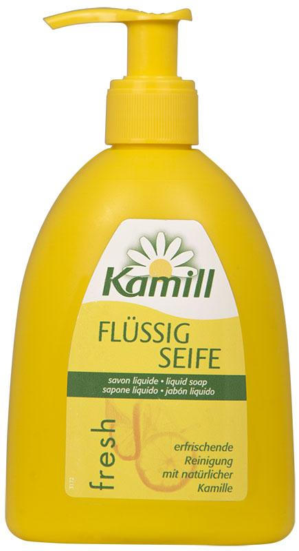 Kamill Мыло жидкое для рук Fresh, 300 мл26950643Освежающее жидкое мыло для рук с ароматом цитрусового молочка и экстрактом ромашки успокаивает кожу и поддерживает ее естественную регенерацию. Благодаря аромату лимонного молочка, оставляет ощущение свежести после использования.Концентрированная формула обеспечивает очень экономичный расход мыла. Жидкое мыло Kamill pH-нейтрально, проверено дерматологически. Товар сертифицирован.