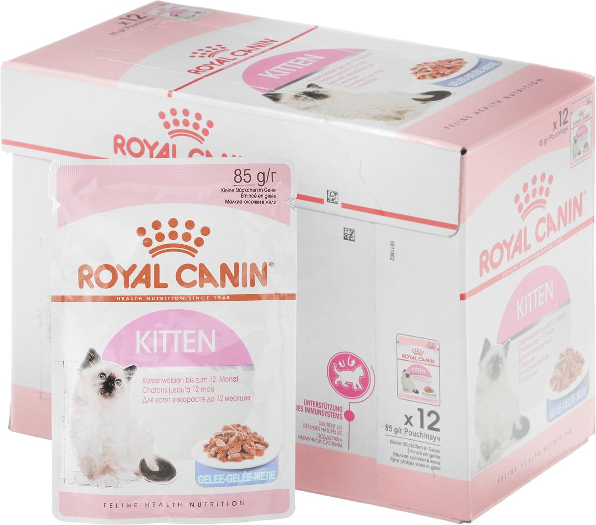 Консервы Royal Canin Kitten Instinctive, для котят с 4 до 12 месяцев, мелкие кусочки в желе, 85 г, 12 шт66244Консервы Royal Canin Kitten Instinctive - полноценное сбалансированное питание для котят с 4 до 12 месяцев. Котенок во 2-й фазе роста продолжает расти, только рост происходит не так активно, как в 1-й фазе, поэтому: - Он предпочитает специальную формулу Macro Nutritional Profile. - Укрепляется костная ткань котенка. Потребность котенка в энергии остается высокой, хотя и несколько меньшей, чем у котят 1-й фазы роста. - У котят прорезаются постоянные зубы. - Котенок 2-й фазы роста уже обладает собственной иммунной системой, однако его естественные защитные силы пока остаются уязвимыми. Пищевое предпочтение. Корм Kitten Instinctive имеет тщательно сбалансированную рецептуру, соответствующую оптимальной формуле Macro Nutritional Profile, инстинктивно предпочитаемой котятами во 2-й фазе роста. Легкое пережевывание. Размер и текстура кусочков корма идеально адаптированы для челюстей котенка. Естественная защита. Корм Kitten Instinctive помогает формированию естественной защитной системы организма котенка, стимулируя выработку антител благодаря маннановым олигосахаридам и комплексу антиоксидантов (витаминам E и C, таурину и лютеину). Состав: мясо и мясные субпродукты, злаки, экстракты белков растительного происхождения, субпродукты растительного происхождения, молоко и продукты его переработки, масла и жиры, минеральные вещества, дрожжи, источники углеводов. Добавки (в 1 кг): Витамин D3: 175 ME, Железо: 3 мг, Йод: 0,38 мг, Медь: 3 мг, Марганец: 1 мг, Цинк: 10 мг. Товар сертифицирован.