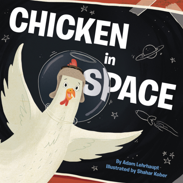 Chicken in Space toys in space