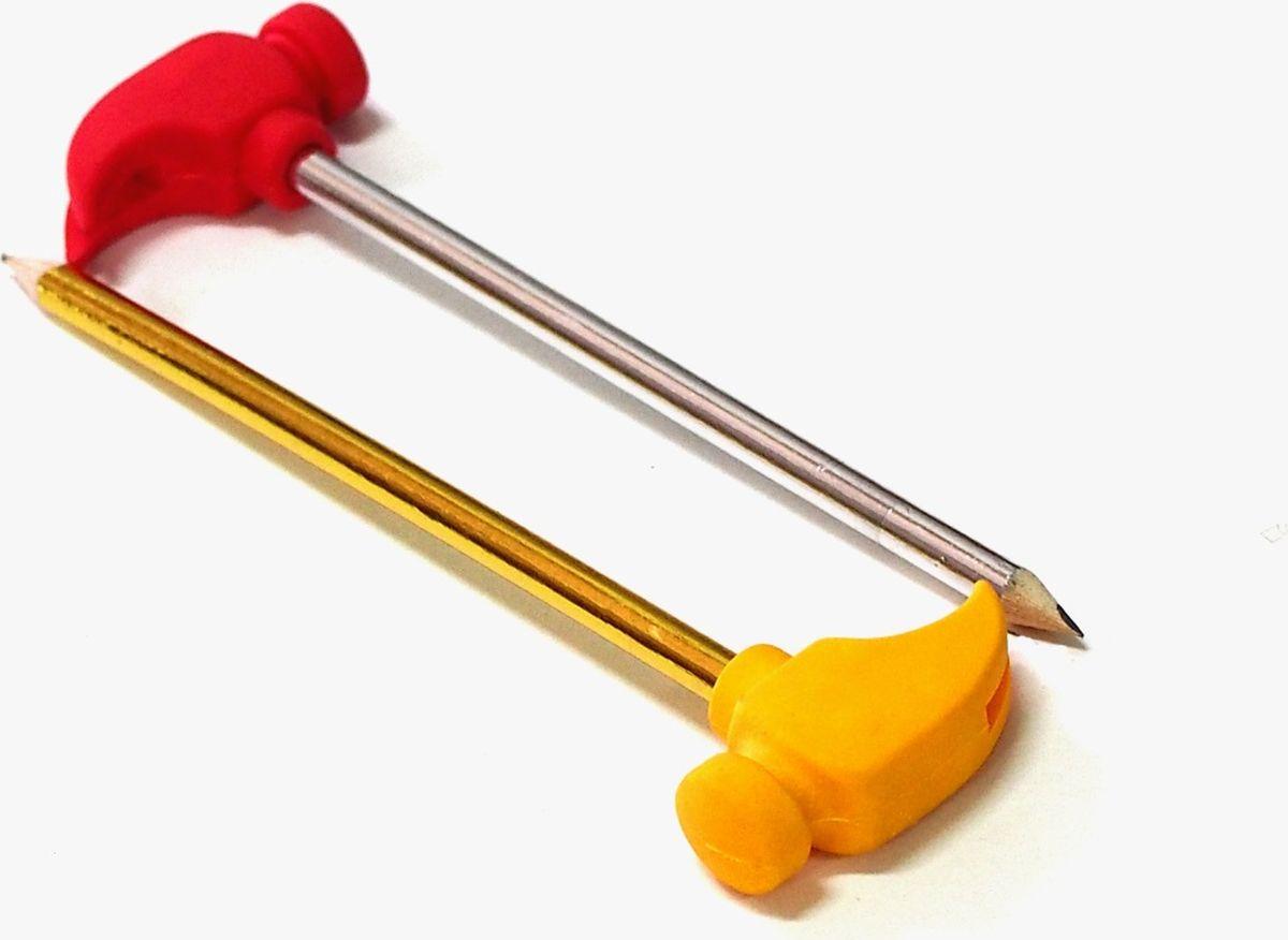 Карамба Карандаш с ластиком Молоток 2 шт002220Чернографитный карандаш Карамба с ластиком в виде молотка будет незаменим и для детей, которые только начинают рисовать, и для школьников. Его круглый корпус сделан из натурального дерева. Сверху на корпус надет ластик в виде молотка. Карандаш имеет очень прочный грифель самого высокого качества, который не крошится и не ломается при заточке.
