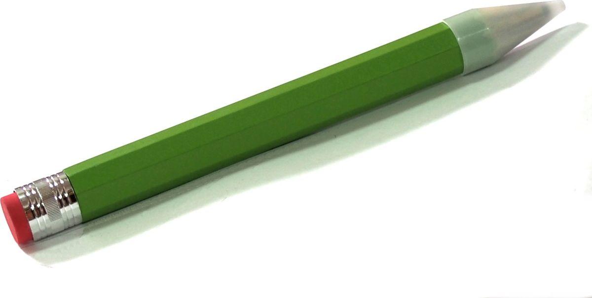 Карамба Карандаш с ластиком цвет зеленый002281Карандаш с ластиком поражает своими размерами. Его длина 34 см.