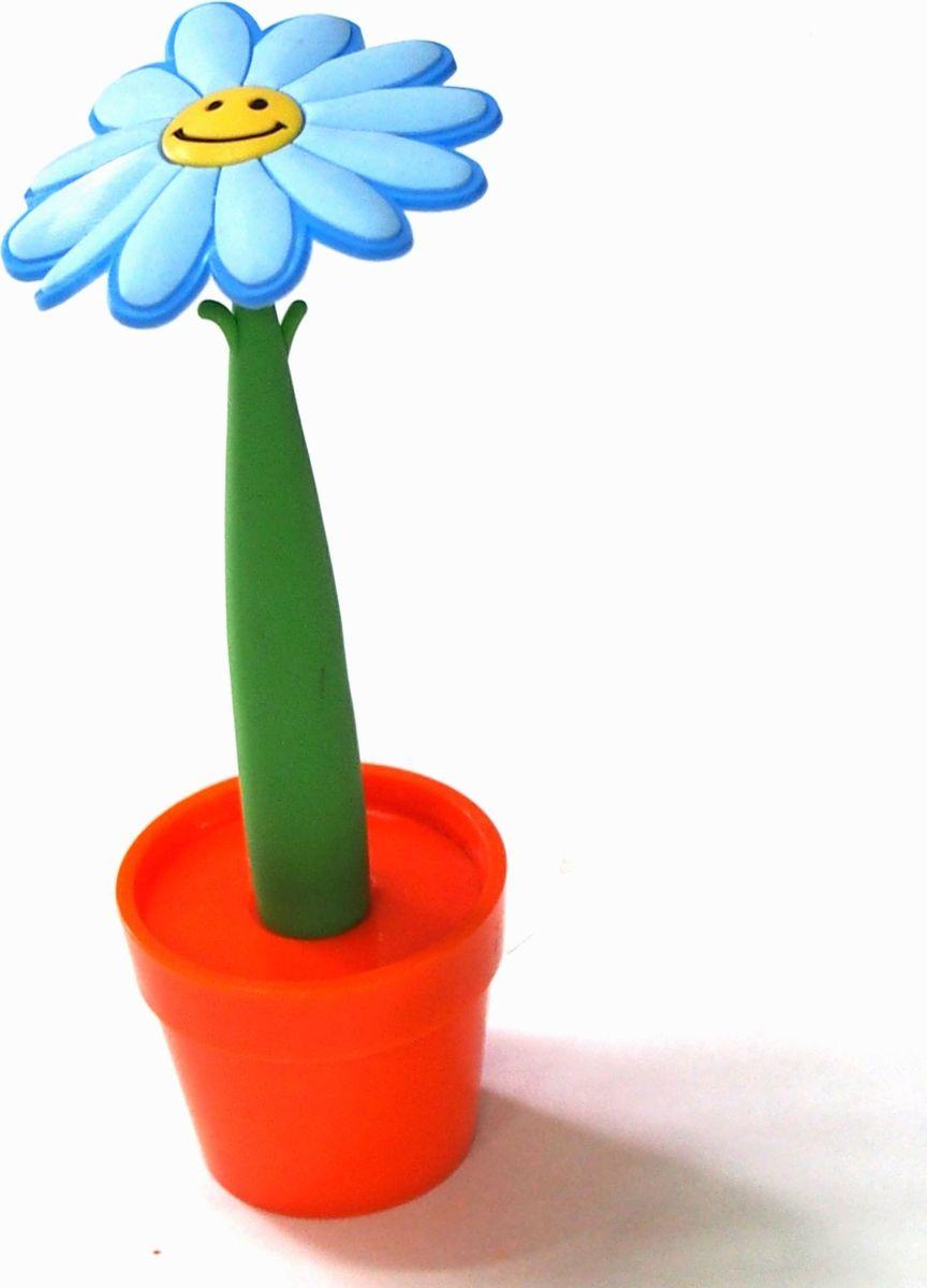 Карамба Ручка шариковая Цветок в горшке цвет корпуса голубой синяя003622На первый взгляд- милая безделушка. Однако все не так просто- вещица функциональна. Это ручка, выполненная в виде цветка.