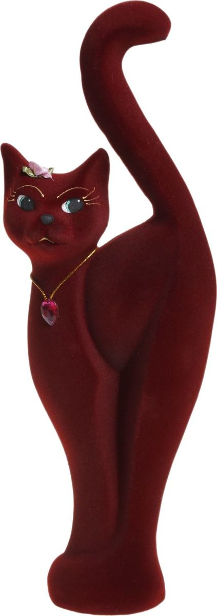 Копилка Керамика ручной работы Кошка Анфиса, цвет: бордовый, 7 х 15 х 42 см1062679Женщины любят баловать себя покупками для красоты и здоровья. С помощью такой копилки можно незаметно приблизиться к приобретению желаемого. Образ кошки всегда олицетворял привлекательность и символизировал домашнее спокойствие. Поставьте изделие возле предметов роскоши, и оно будет способствовать их преумножению.Обращаем ваше внимание, что копилка является одноразовой.