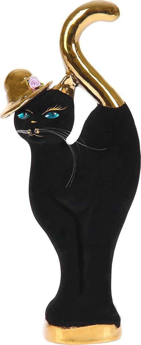 Копилка Керамика ручной работы Кошка в шляпе, 6 х 12 х 37 см1093888Женщины любят баловать себя покупками для красоты и здоровья. С помощью такой копилки можно незаметно приблизиться к приобретению желаемого. Образ кошки всегда олицетворял привлекательность и символизировал домашнее спокойствие. Поставьте изделие возле предметов роскоши, и оно будет способствовать их преумножению.Обращаем ваше внимание, что копилка является одноразовой.