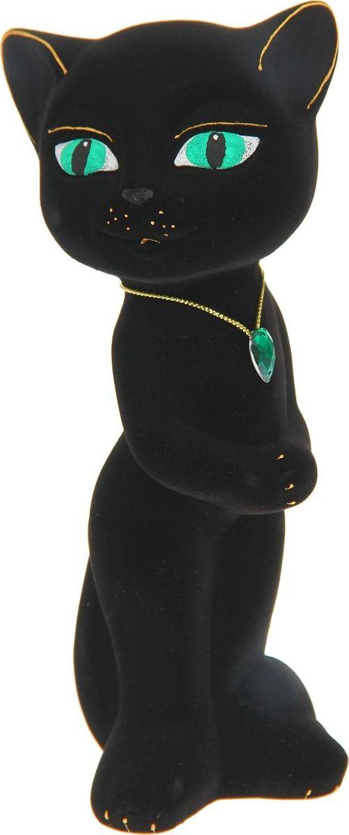 Копилка Керамика ручной работы Кошка Анжела, цвет: черный, 8 х 9 х 23 см1164525Женщины любят баловать себя покупками для красоты и здоровья. С помощью такой копилки можно незаметно приблизиться к приобретению желаемого. Образ кошки всегда олицетворял привлекательность и символизировал домашнее спокойствие. Поставьте изделие возле предметов роскоши, и оно будет способствовать их преумножению.Обращаем ваше внимание, что копилка является одноразовой.
