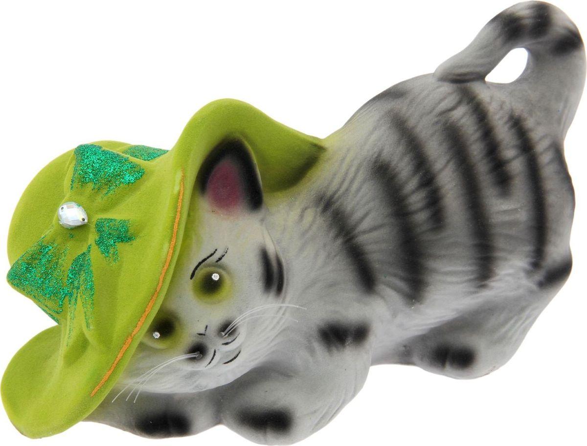 Копилка Керамика ручной работы Кошка в шляпе, 14 х 27 х 15 см1502137Женщины любят баловать себя покупками для красоты и здоровья. С помощью такой копилки можно незаметно приблизиться к приобретению желаемого. Образ кошки всегда олицетворял привлекательность и символизировал домашнее спокойствие. Поставьте изделие возле предметов роскоши, и оно будет способствовать их преумножению.