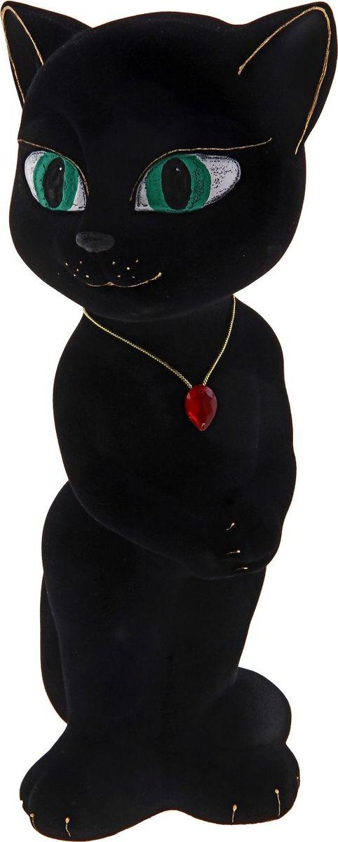 Копилка Керамика ручной работы Кошка Анжела, цвет: черный, 11 х 11 х 33 см185635Женщины любят баловать себя покупками для красоты и здоровья. С помощью такой копилки можно незаметно приблизиться к приобретению желаемого. Образ кошки всегда олицетворял привлекательность и символизировал домашнее спокойствие. Поставьте изделие возле предметов роскоши, и оно будет способствовать их преумножению.