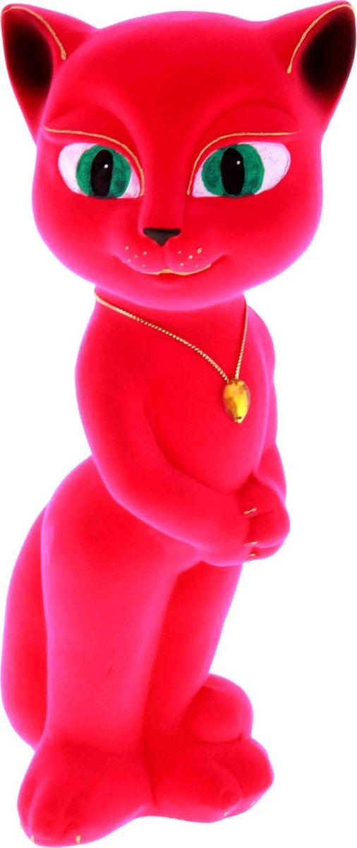 Копилка Керамика ручной работы Кошка Анжела, цвет: ярко-розовый, 11 х 11 х 33 см194524Женщины любят баловать себя покупками для красоты и здоровья. С помощью такой копилки можно незаметно приблизиться к приобретению желаемого. Образ кошки всегда олицетворял привлекательность и символизировал домашнее спокойствие. Поставьте изделие возле предметов роскоши, и оно будет способствовать их преумножению.Обращаем ваше внимание, что копилка является одноразовой.