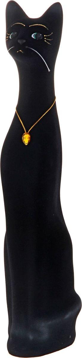 Копилка Керамика ручной работы Кот Марс, цвет: черный, 13 х 10 х 50 см332424Женщины любят баловать себя покупками для красоты и здоровья. С помощью такой копилки можно незаметно приблизиться к приобретению желаемого. Образ кошки всегда олицетворял привлекательность и символизировал домашнее спокойствие. Поставьте изделие возле предметов роскоши, и оно будет способствовать их преумножению.Обращаем ваше внимание, что копилка является одноразовой.