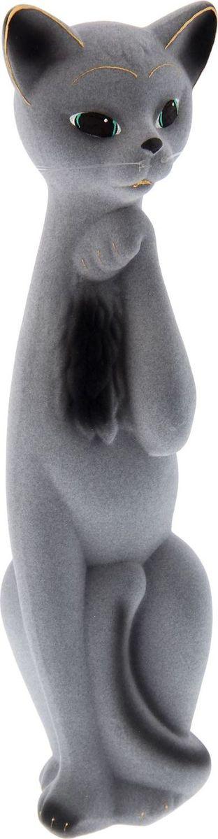 Копилка Керамика ручной работы Кошка Алиса, 11 х 12 х 47 см. 748615748615Женщины любят баловать себя покупками для красоты и здоровья. С помощью такой копилки можно незаметно приблизиться к приобретению желаемого. Образ кошки всегда олицетворял привлекательность и символизировал домашнее спокойствие. Поставьте изделие возле предметов роскоши, и оно будет способствовать их преумножению.