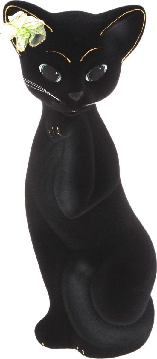 Копилка Керамика ручной работы Кошка Алиса, цвет: черный, 13 х 11 х 33 см748622Женщины любят баловать себя покупками для красоты и здоровья. С помощью такой копилки можно незаметно приблизиться к приобретению желаемого. Образ кошки всегда олицетворял привлекательность и символизировал домашнее спокойствие. Поставьте изделие возле предметов роскоши, и оно будет способствовать их преумножению.Обращаем ваше внимание, что копилка является одноразовой.