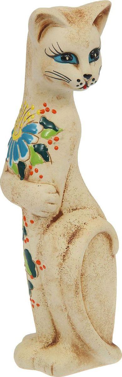 Копилка Керамика ручной работы Кошка Багира, 7 х 8 х 30 см748912Женщины любят баловать себя покупками для красоты и здоровья. С помощью такой копилки можно незаметно приблизиться к приобретению желаемого. Образ кошки всегда олицетворял привлекательность и символизировал домашнее спокойствие. Поставьте изделие возле предметов роскоши, и оно будет способствовать их преумножению.Обращаем ваше внимание, что копилка является одноразовой.