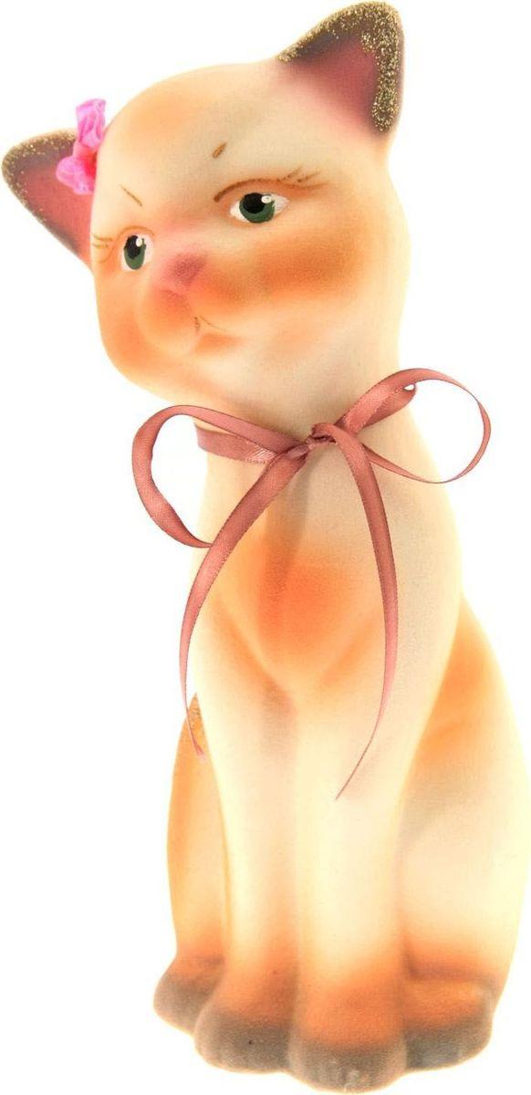 Копилка Керамика ручной работы Кошка Алиса, 12 х 15 х 28 см902419Женщины любят баловать себя покупками для красоты и здоровья. С помощью такой копилки можно незаметно приблизиться к приобретению желаемого. Образ кошки всегда олицетворял привлекательность и символизировал домашнее спокойствие. Поставьте изделие возле предметов роскоши, и оно будет способствовать их преумножению.