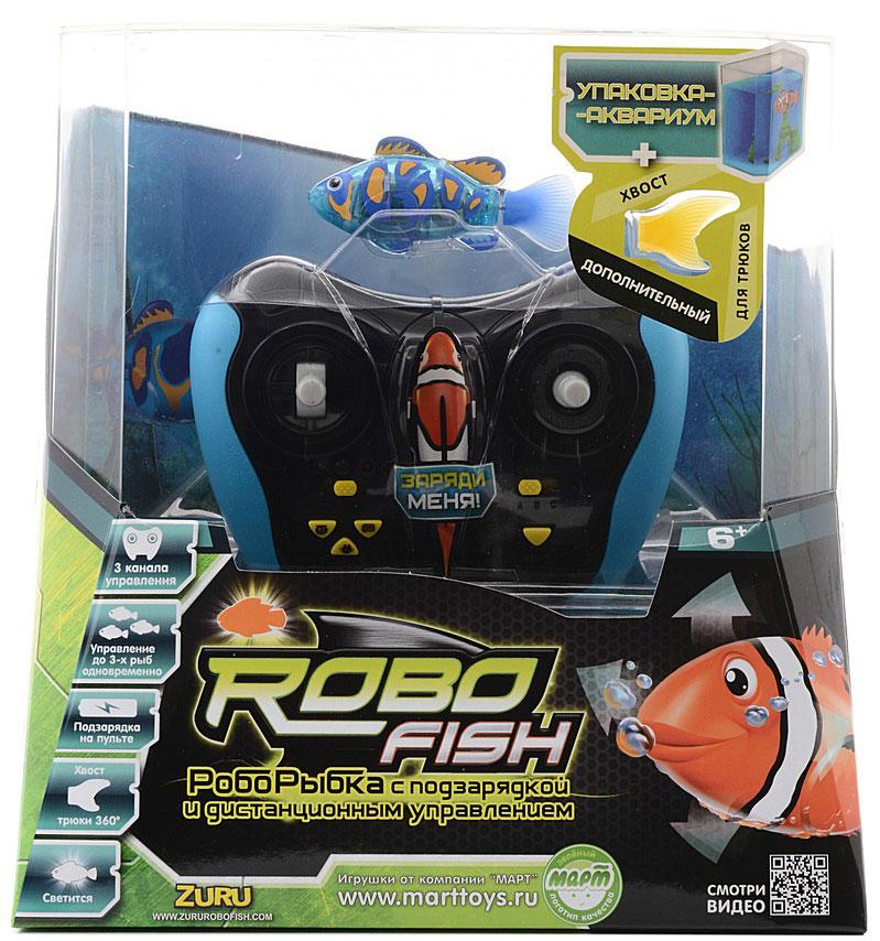 Радиоуправляемая игрушка Robofish  РобоРыбка , цвет: синий - Радиоуправляемые игрушки