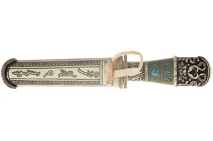 Сувенирное оружие Кинжал. Гифтман. 81008748678Сувенирное оружие Кинжал. Китай. Металл, пластик. Длина: 24 см. Сохранность хорошая.