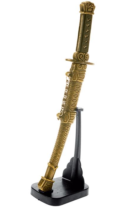 """Сувенирное оружие """"Кинжал"""", на подставке. Китай. Металл, пластик. Длина 25 см. Сохранность хорошая."""