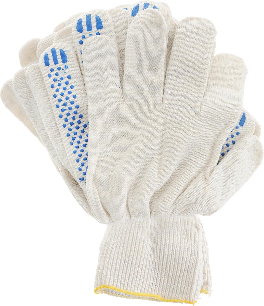 Перчатки Вихрь, с ПВХ покрытием, 5 пар. 73/4/1/373/4/1/3Вязаные перчатки Вихрь, выполненные из хлопка и полиэфира, предназначены для строительных и погрузочно-разгрузочных работ. Ладонная часть усилена слоем из ПВХ материала, что обеспечивает дополнительную защиту рук.