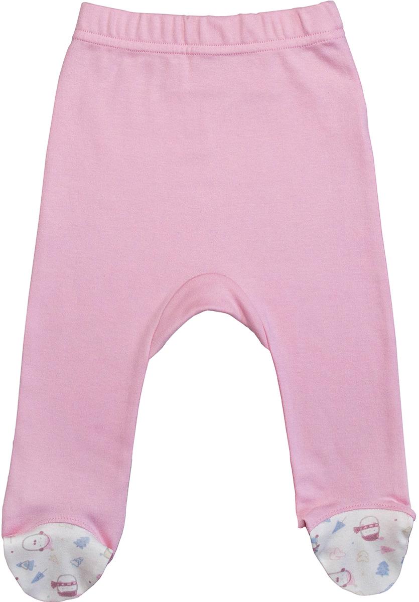 Ползунки для девочки Мамуляндия Зимние забавы, цвет: розовый. 17-1605. Размер 80 зимние забавы раскраска