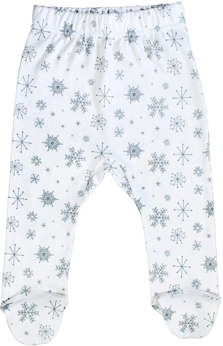 Ползунки для девочки Мамуляндия Снежинка, цвет: белый. 17-2005. Размер 68
