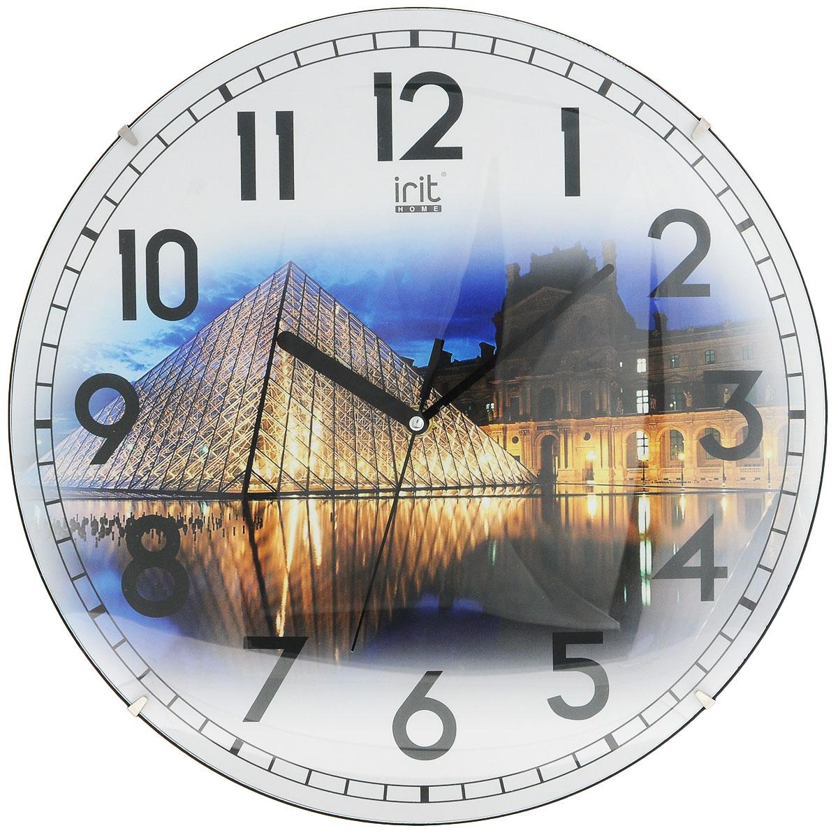 Irit IR-625 Европа Париж настенные часы7902214_ПарижНастенные часы Irit IR-625 Европа - это элегантный и неотъемлемый элемент дизайна любого помещения. Корпус кварцевых часов выполнен из качественного пластика, который гарантирует не только их легкость, но и практичность, легкий монтаж и уход. Циферблат данной модели оформлен стильным и красивым принтом. Диаметр часов: 35 см.