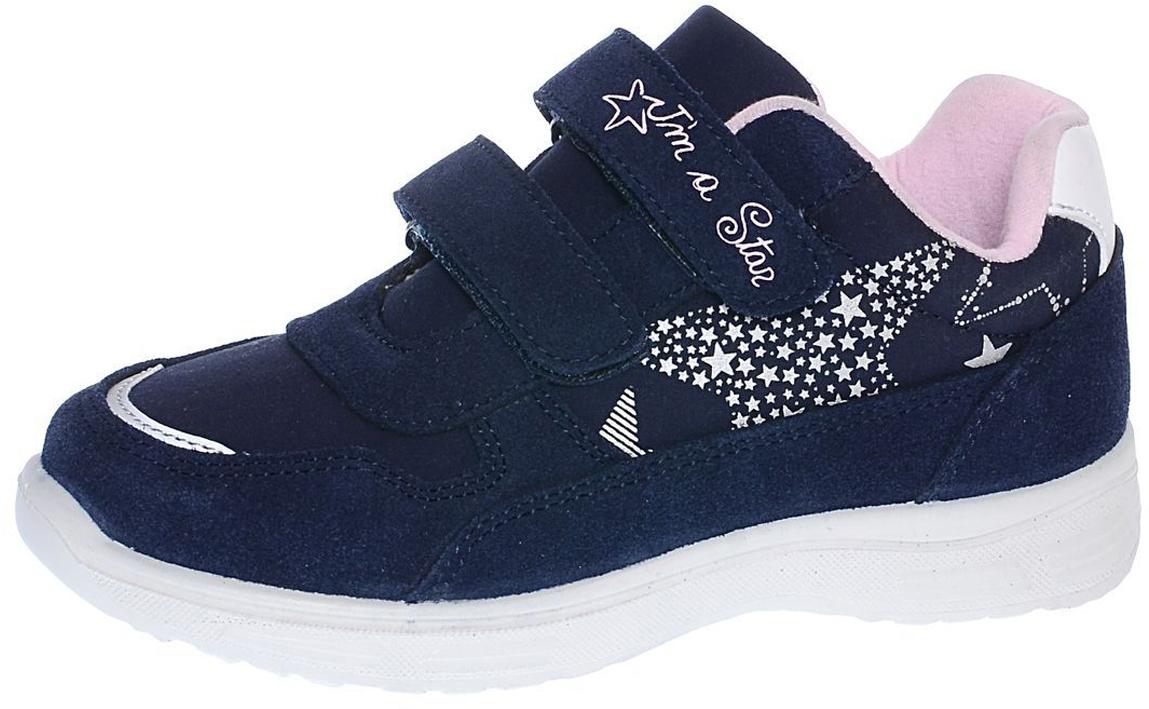 Кроссовки для девочки Котофей, цвет: синий, розовый. 644160-71. Размер 34