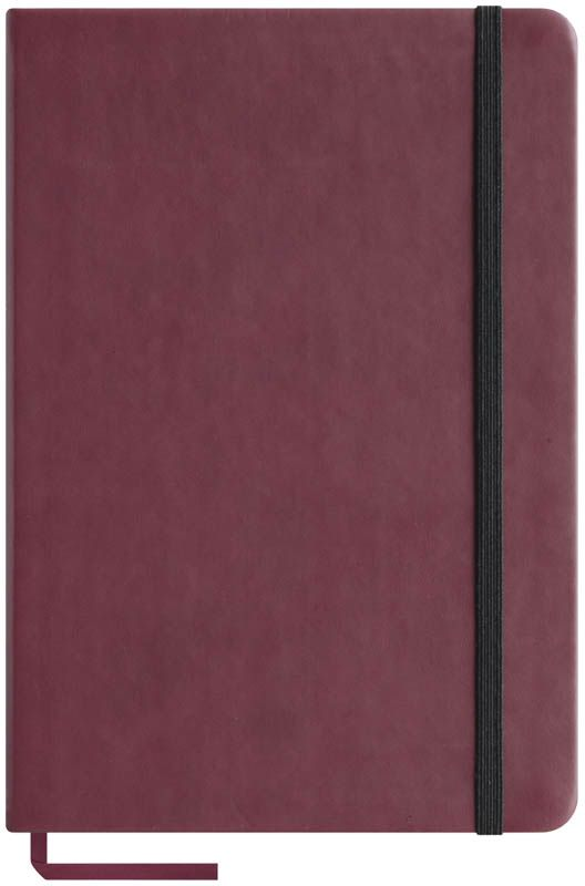 OfficeSpace Записная книжка Classic Velvet 96 листов в клетку цвет бордовый формат A5N5tr_6763Записная книжка OfficeSpace Classic Velvet выполнен в классическом европейском дизайне. Твердая обложка с фиксирующей резинкой. На внутренней стороне обложки специальный карман для визитных карточек и документов. Материал обложки - высококачественный кожзаменитель, подходит под персонализацию. Внутренний блок - высококачественная тонированная офсетная бумага 70 г/м2, клетка, пантонная печать. Книжный переплет. Закладка-ляссе в цвет обложки.Формат A5.