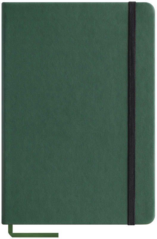 OfficeSpace Записная книжка Classic Velvet 96 листов в клетку цвет зеленый формат A5N5tr_6765Записная книжка OfficeSpace Classic Velvet выполнен в классическом европейском дизайне. Твердая обложка с фиксирующей резинкой. На внутренней стороне обложки специальный карман для визитных карточек и документов. Материал обложки - высококачественный кожзаменитель, подходит под персонализацию. Внутренний блок - высококачественная тонированная офсетная бумага 70 г/м2, клетка, пантонная печать. Книжный переплет. Закладка-ляссе в цвет обложки.Формат A5.