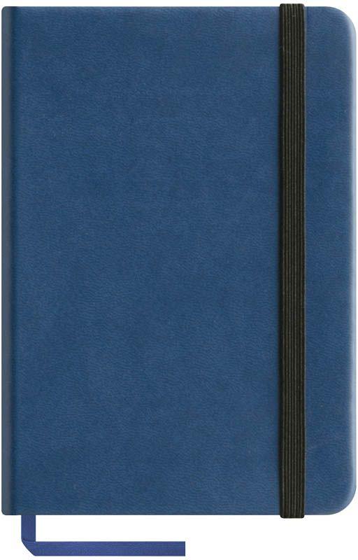 OfficeSpace Записная книжка Classic Velvet 96 листов в клетку цвет синий формат A6N6tr_6769Записная книжка OfficeSpace Classic Velvet выполнен в классическом европейском дизайне. Твердая обложка с фиксирующей резинкой. На внутренней стороне обложки специальный карман для визитных карточек и документов. Материал обложки - высококачественный кожзаменитель, подходит под персонализацию. Внутренний блок - высококачественная тонированная офсетная бумага 70 г/м2, клетка, пантонная печать. Книжный переплет. Закладка-ляссе в цвет обложки.Формат A6.