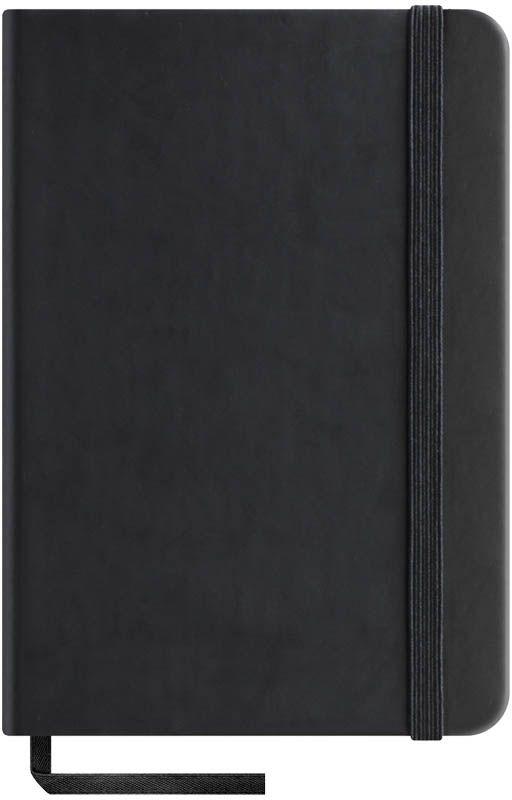 OfficeSpace Записная книжка Classic Velvet 96 листов в клетку цвет черный формат A6N6tr_6771Записная книжка OfficeSpace Classic Velvet выполнен в классическом европейском дизайне. Твердая обложка с фиксирующей резинкой. На внутренней стороне обложки специальный карман для визитных карточек и документов. Материал обложки - высококачественный кожзаменитель, подходит под персонализацию. Внутренний блок - высококачественная тонированная офсетная бумага 70 г/м2, клетка, пантонная печать. Книжный переплет. Закладка-ляссе в цвет обложки.Формат A6.