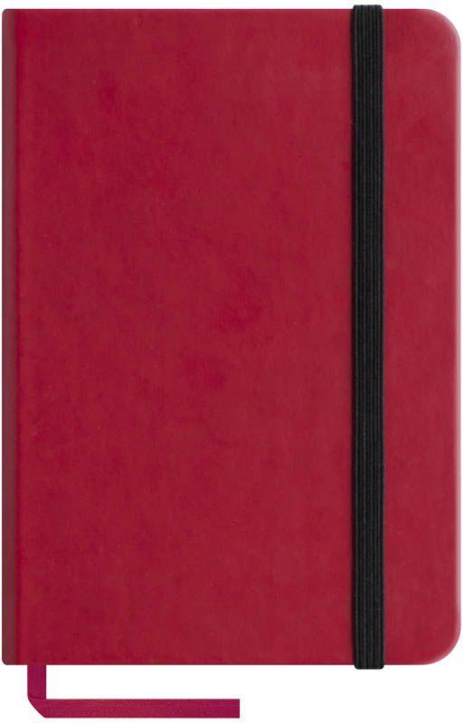 OfficeSpace Записная книжка Classic Velvet 96 листов в клетку цвет красный формат A6N6tr_6773Записная книжка Classic Velvet в классическом европейском дизайне. Твердая обложка с фиксирующей резинкой. На внутренней стороне обложки специальный карман для визитных карточек и документов. Материал обложки - высококачественный кожзаменитель, подходит под персонализацию. Внутренний блок - высококачественная тонированная офсетная бумага в клетку плотностью 70 г/м2, пантонная печать. Книжный переплет. Закладка-ляссе в цвет обложки.