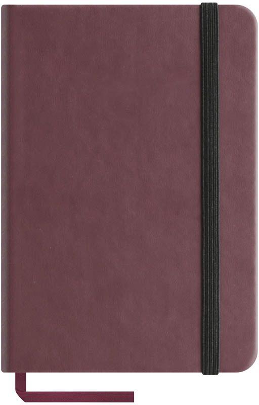 OfficeSpace Записная книжка Classic Velvet 96 листов в клетку цвет бордовый формат A6N6tr_6775Записная книжка OfficeSpace Classic Velvet выполнен в классическом европейском дизайне. Твердая обложка с фиксирующей резинкой. На внутренней стороне обложки специальный карман для визитных карточек и документов. Материал обложки - высококачественный кожзаменитель, подходит под персонализацию. Внутренний блок - высококачественная тонированная офсетная бумага 70 г/м2, клетка, пантонная печать. Книжный переплет. Закладка-ляссе в цвет обложки.Формат A6.