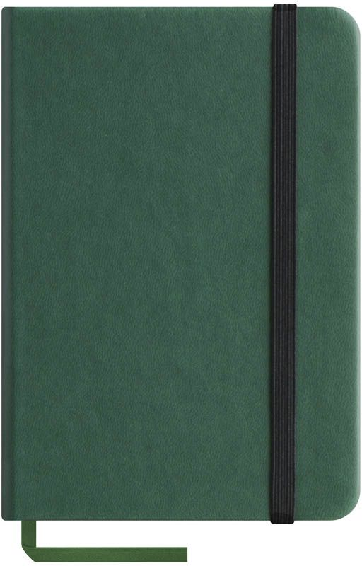 OfficeSpace Записная книжка Classic Velvet 96 листов в клетку цвет зеленый формат A6N6tr_6777Записная книжка Classic Velvet в классическом европейском дизайне. Твердая обложка с фиксирующей резинкой. На внутренней стороне обложки специальный карман для визитных карточек и документов. Материал обложки - высококачественный кожзаменитель, подходит под персонализацию. Внутренний блок - высококачественная тонированная офсетная бумага в клетку плотностью 70 г/м2, пантонная печать. Книжный переплет. Закладка-ляссе в цвет обложки.