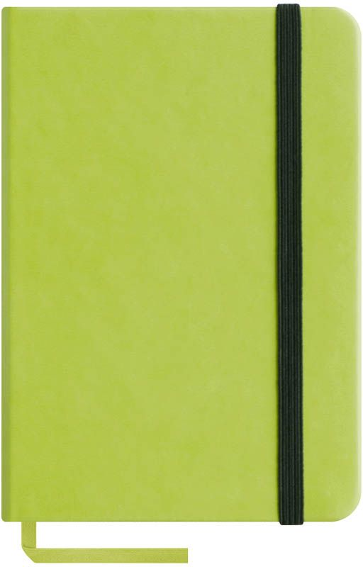 OfficeSpace Записная книжка Classic Velvet 96 листов в клетку цвет салатовый формат A6N6tr_6779Записная книжка Classic Velvet в классическом европейском дизайне. Твердая обложка с фиксирующей резинкой. На внутренней стороне обложки специальный карман для визитных карточек и документов. Материал обложки - высококачественный кожзаменитель, подходит под персонализацию. Внутренний блок - высококачественная тонированная офсетная бумага в клетку плотностью 70 г/м2, пантонная печать. Книжный переплет. Закладка-ляссе в цвет обложки.