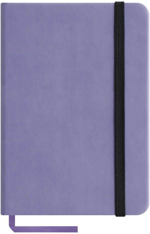 OfficeSpace Записная книжка Classic Velvet 96 листов в клетку цвет сиреневый формат A6N6tr_6783Записная книжка Classic Velvet в классическом европейском дизайне. Твердая обложка с фиксирующей резинкой. На внутренней стороне обложки специальный карман для визитных карточек и документов. Материал обложки - высококачественный кожзаменитель, подходит под персонализацию. Внутренний блок - высококачественная тонированная офсетная бумага в клетку плотностью 70 г/м2, пантонная печать. Книжный переплет. Закладка-ляссе в цвет обложки.