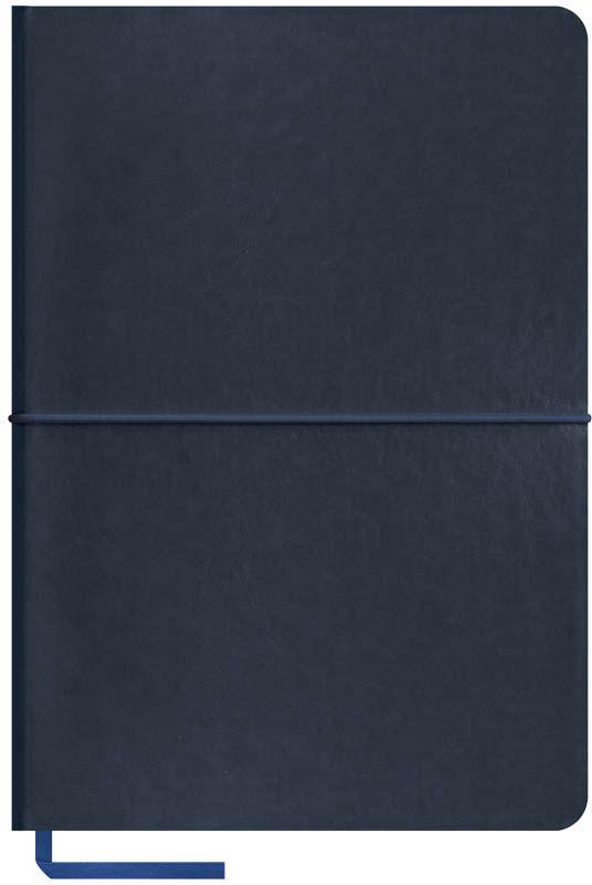 OfficeSpace Записная книжка Caprice Soft 120 листов в клетку цвет синий формат A5N5sr_6785Записная книжка OfficeSpace Caprice Soft в мягкой обложке с горизонтальной резинкой-фиксатором. Материал обложки - высококачественный кожзаменитель, подходит под персонализацию. Цветной срез блока. Внутренний блок из высококачественной тонированной офсетной бумаги 70 г/м2, клетка, пантонная печать. Прошитый блок. Закладка-ляссе в цвет обложки.Формат А5.