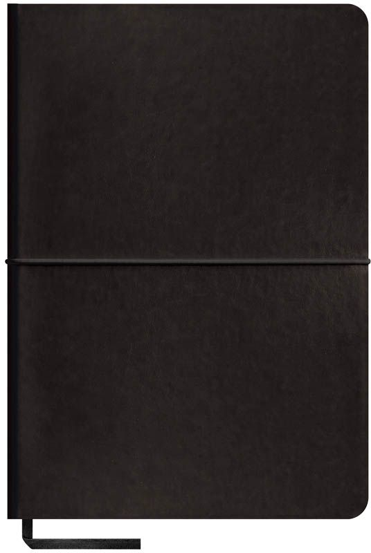 OfficeSpace Записная книжка Caprice Soft 120 листов в клетку цвет черный формат A5N5sr_6787Записная книжка Caprice Soft в мягкой обложке с горизонтальной резинкой-фиксатором. Материал обложки - высококачественный кожзаменитель, подходит под персонализацию. Цветной срез блока. Внутренний блок выполнен из высококачественной тонированной офсетной бумаги в клетку плотностью 70 г/м2, пантонная печать. Прошитый блок. Закладка-ляссе в цвет обложки.