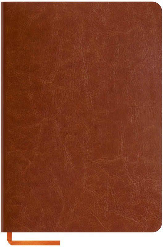 OfficeSpace Записная книжка Nebraska Soft 80 листов в клетку цвет коричневыйN5s_6867Стильная записная книжка OfficeSpace Nebraska Soft с ярким цветным срезом и ультра-мягкой обложкой из 2 слоев высококачественного кожзаменителя. Подходит под персонализацию.Внутренний блок из высококачественной тонированной офсетной бумаги 70 г/м2, клетка, пантонная печать. Прошитый блок. Срез блока, форзацы, закладка-ляссе и каптал - оранжевые.