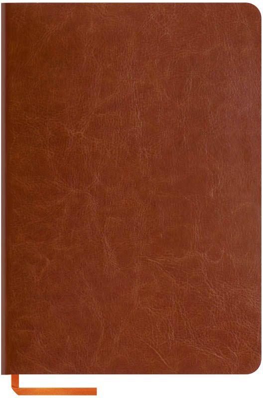 OfficeSpace Записная книжка Nebraska Soft 120 листов в клетку цвет коричневый формат A5N5s_6895Стильная записная книжка OfficeSpace Nebraska Soft с ярким цветным срезом и ультра-мягкой обложкой из 2 слоев высококачественного кожзаменителя. Подходит под персонализацию.Внутренний блок из высококачественной тонированной офсетной бумаги 70 г/м2, клетка, пантонная печать. Прошитый блок. Срез блока, форзацы, закладка-ляссе и каптал - оранжевые.Формат А5.