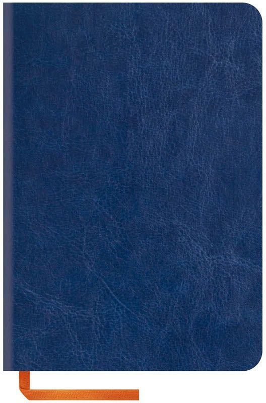 OfficeSpace Записная книжка Nebraska Soft 120 листов в клетку цвет синий формат A6N6s_6903Стильная записная книжка с ярким цветным срезом и ультра-мягкой обложкой из 2 слоев высококачественного кожзаменителя. Подходит под персонализацию. Внутренний блок из высокачественной тонированной офсетной бумаги 70 г/м2, клетка, пантонная печать. Прошитый блок. Срез блока, форзацы, закладка-ляссе и каптал - оранжевые. Индивидуальная упаковка.