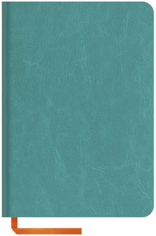 OfficeSpace Записная книжка Nebraska Soft 120 листов в клетку цвет бирюзовый формат A6N6s_6911Стильная записная книжка с ярким цветным срезом и ультра-мягкой обложкой из 2 слоев высококачественного кожзаменителя. Подходит под персонализацию. Внутренний блок из высокачественной тонированной офсетной бумаги 70 г/м2, клетка, пантонная печать. Прошитый блок. Срез блока, форзацы, закладка-ляссе и каптал - оранжевые. Индивидуальная упаковка.