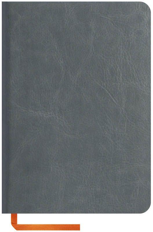 OfficeSpace Записная книжка Nebraska Soft 120 листов в клетку цвет серый формат A6N6s_6917Стильная записная книжка с ярким цветным срезом и ультра-мягкой обложкой из 2 слоев высококачественного кожзаменителя. Подходит под персонализацию. Внутренний блок из высокачественной тонированной офсетной бумаги 70 г/м2, клетка, пантонная печать. Прошитый блок. Срез блока, форзацы, закладка-ляссе и каптал - оранжевые. Индивидуальная упаковка.