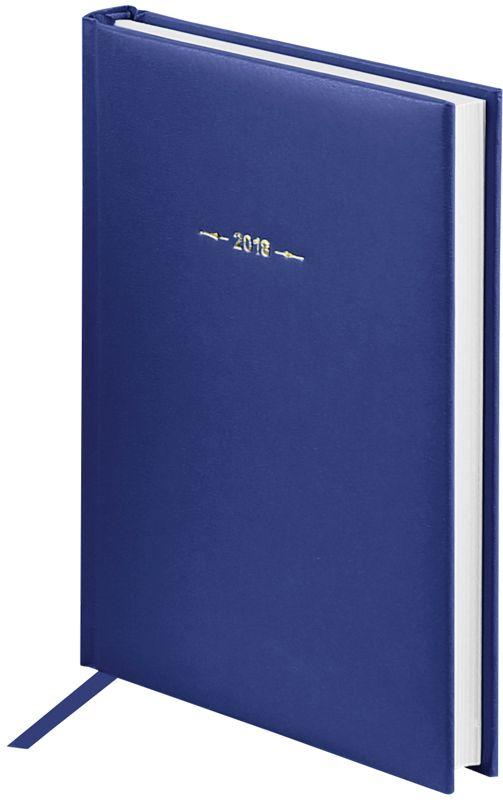 OfficeSpace Ежедневник Ariane 2018 датированный 176 листов в линейку цвет синий формат A5Ed5_12399Ежедневник датированный формата А5 из коллекции Ariane. Обложка изготовлена из высококачественного переплетного материала с поролоновой прослойкой, цвет обложки - синий. Подходит для всех видов полиграфического тиснения. Внутренний блок состоит из 176 листов офсетной бумаги плотностью 70 г/м2, печать блока в 2 краски, справочный материал. На форзацах географические карты России и Мира. Удобная закладка-ляссе и перфорированные уголки.