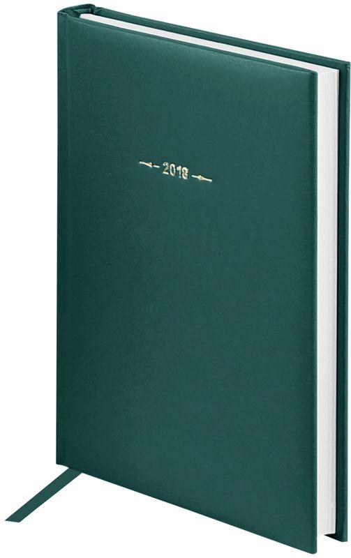 OfficeSpace Ежедневник Ariane 2018 датированный 176 листов в линейку цвет зеленый формат A5Ed5_12405Ежедневник датированный формата А5 из коллекции Ariane. Обложка изготовлена из высококачественного переплетного материала с поролоновой прослойкой, цвет обложки - зеленый. Подходит для всех видов полиграфического тиснения. Внутренний блок состоит из 176 листов офсетной бумаги плотностью 70 г/м2, печать блока в 2 краски, справочный материал. На форзацах географические карты России и Мира. Удобная закладка-ляссе и перфорированные уголки.