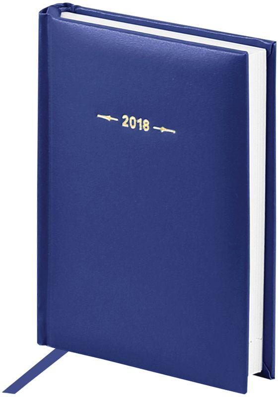 OfficeSpace Ежедневник 2018 Ariane датированный 176 листов цвет синий Ed6_12415Ed6_12415Обложкаежедневника OfficeSpace Ariane изготовлена из высококачественного переплетного материала с поролоновой прослойкой, цвет обложки - синий. Подходит для всех видов полиграфического тиснения. Внутренний блок состоит из 176 листов офсетной бумаги в линейку, плотностью 70 г/м2, печать блока в 2 краски, справочный материал. На форзацах географические карты России и Мира.Удобная закладка-ляссе и перфорированные уголки.Формат А6.