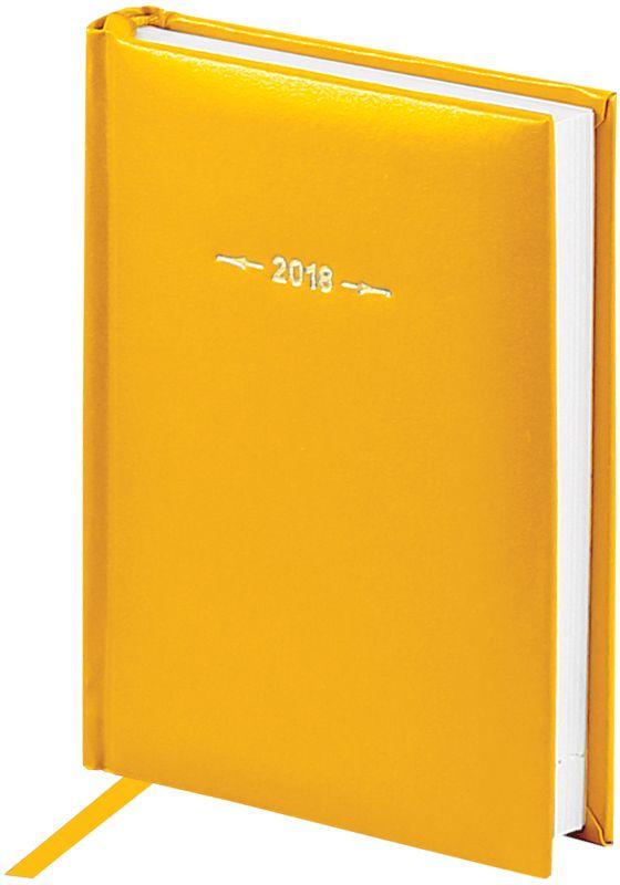 OfficeSpace Ежедневник Ariane 2018 датированный 176 листов в линейку цвет желтый формат A6Ed6_12427Ежедневник датированный формата А6 из коллекции Ariane. Обложка изготовлена из высококачественного переплетного материала с поролоновой прослойкой, цвет обложки - желтый. Подходит для всех видов полиграфического тиснения. Внутренний блок состоит из 176 листов офсетной бумаги плотностью 70 г/м2, печать блока в 2 краски, справочный материал. На форзацах географические карты России и Мира. Удобная закладка-ляссе и перфорированные уголки.