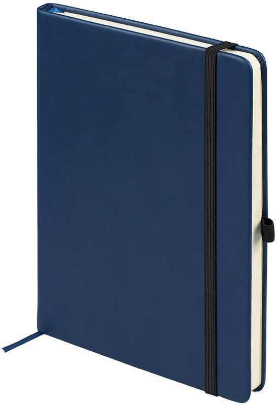 OfficeSpace Ежедневник Classic Velvet недатированный 96 листов цвет синий формат A5En5v_12881Недатированный ежедневник OfficeSpace Classic Velvet имеет обложку, изготовленную из высококачественного кожзаменителя с мягким гладким матовым покрытием, цвет обложки - синий. Подходит для всех видов полиграфического тиснения. Внутренний блок состоит из 96 листов тонированной офсетной бумаги в линейку, плотностью 70 г/м2, печать блока в 2 краски, справочный материал.Вертикальная фиксирующая резинка на обложке. На заднем форзаце размещен удобный карман для визиток и документов. Удобная закладка-ляссе. Формат A5.