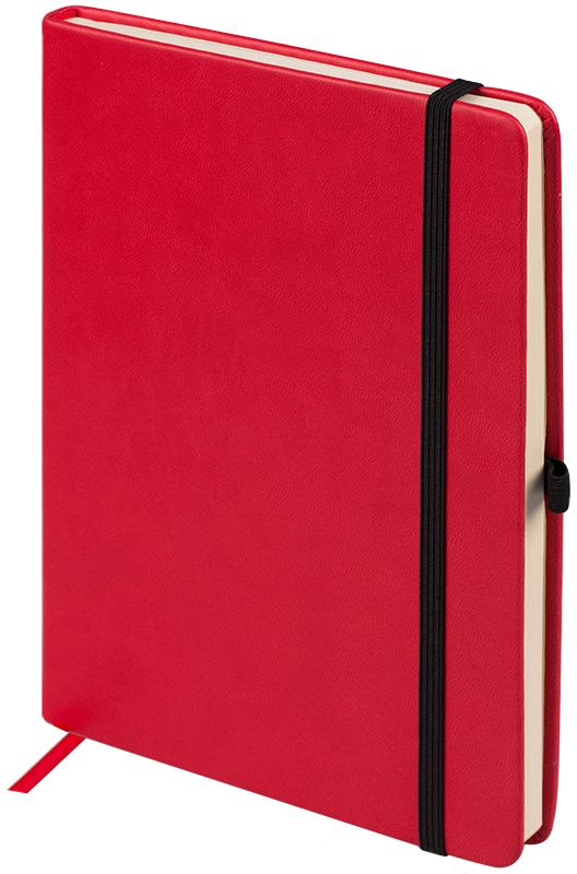 OfficeSpace Ежедневник Classic Velvet недатированный 96 листов цвет красный формат A5En5v_12885Недатированный ежедневник OfficeSpace Classic Velvet имеет обложку, изготовленную из высококачественного кожзаменителя с мягким гладким матовым покрытием, цвет обложки - красный. Подходит для всех видов полиграфического тиснения. Внутренний блок состоит из 96 листов тонированной офсетной бумаги в линейку, плотностью 70 г/м2, печать блока в 2 краски, справочный материал. Вертикальная фиксирующая резинка на обложке. На заднем форзаце размещен удобный карман для визиток и документов. Удобная закладка-ляссе.Формат A5.