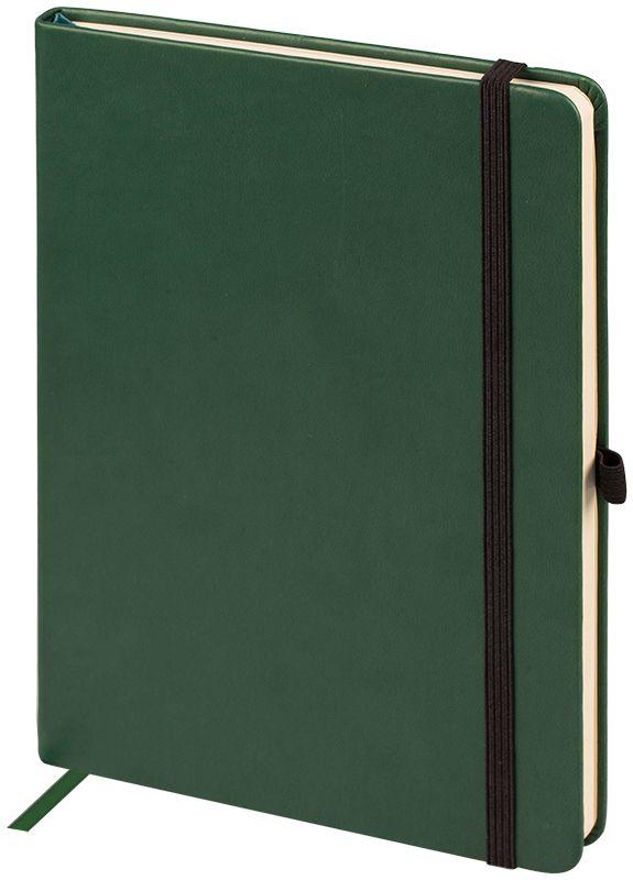 OfficeSpace Ежедневник Classic Velvet недатированный 96 листов цвет зеленый формат A5En5v_12889Недатированный ежедневник OfficeSpace Classic Velvet имеет обложку, изготовленную из высококачественного кожзаменителя с мягким гладким матовым покрытием, цвет обложки - зеленый. Подходит для всех видов полиграфического тиснения. Внутренний блок состоит из 96 листов тонированной офсетной бумаги в линейку, плотностью 70 г/м2, печать блока в 2 краски, справочный материал. Вертикальная фиксирующая резинка на обложке. На заднем форзаце размещен удобный карман для визиток и документов. Удобная закладка-ляссе.Формат A5.