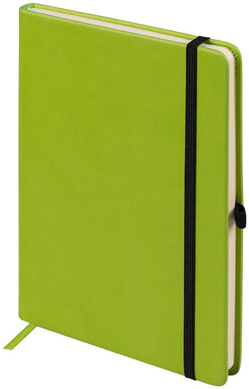 OfficeSpace Ежедневник Classic Velvet недатированный 96 листов цвет салатовый формат A5En5v_12891Недатированный ежедневник OfficeSpace Classic Velvet имеет обложку, изготовленную из высококачественного кожзаменителя с мягким гладким матовым покрытием, цвет обложки - салатовый. Подходит для всех видов полиграфического тиснения. Внутренний блок состоит из 96 листов тонированной офсетной бумаги в линейку, плотностью 70 г/м2, печать блока в 2 краски, справочный материал. Вертикальная фиксирующая резинка на обложке. На заднем форзаце размещен удобный карман для визиток и документов. Удобная закладка-ляссе.Формат A5.